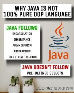 why java is partially OOP language